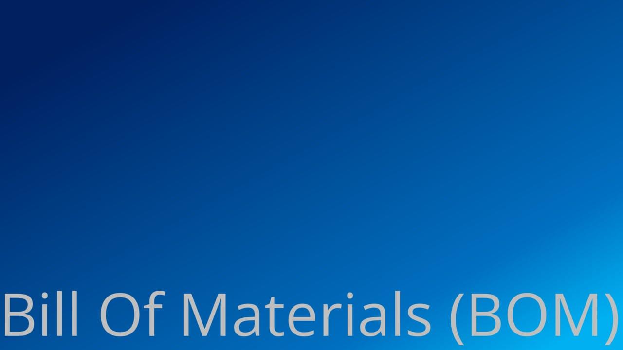 Thinkingfunda Bill Of Materials
